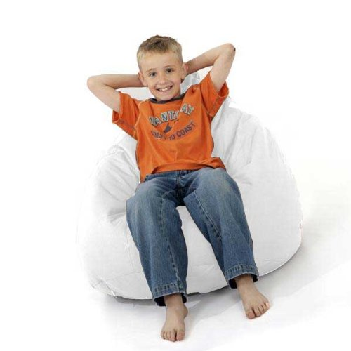 rucomfy Indoor Outdoor White Classic beanbag - IDEAL FOR ALL