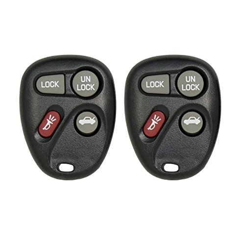 Keyless2Go New Replacement Shell Case and 4 Button Pad for Remote Key Fob FCC KOBLEAR1XT KOBUT1BT - SHELL ONLY (2 Pack) (2000 Chevy Malibu Key compare prices)