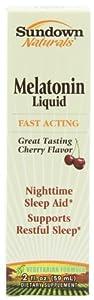 Sundown Naturals Sublingual Melatonin Liquid Cherry Flavor, 2 Ounce