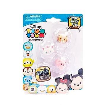Disney – Tsum Tsum – Squishies Fuzzy – 4 Mini Figurines Empilables 3 cm – Modèle Aléatoire