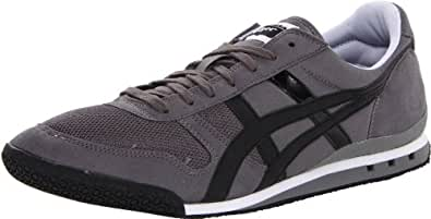 Onitsuka Tiger Ultimate 81 Classic Running Shoe,Charcoal/Black/Black,4 M US