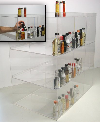 Commercial Display for Mini Sampler 50ml Liquor Shot Airplane Bottles Nips Also Any Other Point of Sale Items (50 Ml Liquor Bottles compare prices)