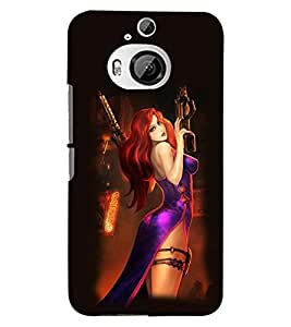 PRINTSWAG ACTION GIRL Designer Back Cover Case for HTC ONE M9 PLUS