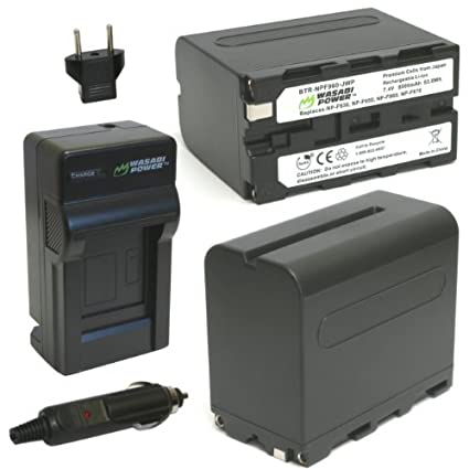 Wasabi-Power-Battery-(2-Pack)-and-Charger-for-Sony-NP-F975,-NP-F970,-NP-F960,-NP-F950-and-Sony-DCR-VX2100,-DSR-PD150,-DSR-PD170,-FDR-AX1,-HDR-AX2000,-HDR-FX1,-HDR-FX7,-HDR-FX1000,-HVL-LBPB,-HVR-HD1000U,-HVR-V1U,-HVR-Z1P,-HVR-Z1U,-HVR-Z5U,-HVR-Z7U,-HXR-MC2