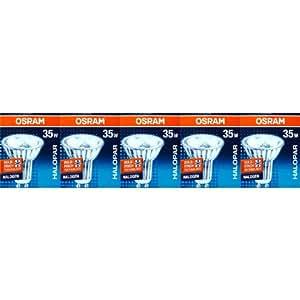 5 Stück Osram 64820 FL HALOPAR16 ALU Halogen-Reflektor 230V GU10 35W
