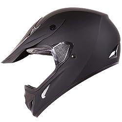 Matte Black Motocross ATV Dirt Bike Open Face Helmet Model#602 from Ivolution Sports, Inc