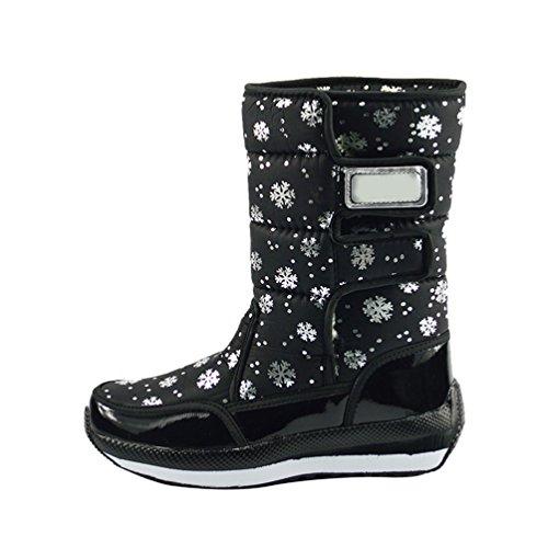 LvRao Donna scarponi per neve impermeabili caldo scarponi doposci alte sportive doposci per invernali # Nero 37