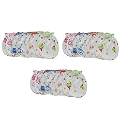 Aarushi Just Born Babys soft cotton Mittens Pack of 12