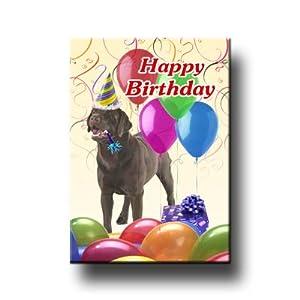 Amazon.com: Labrador Retriever Happy Birthday Fridge Magnet (Choc