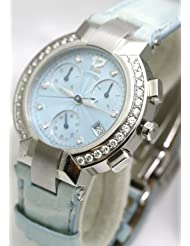 Concord La Scala Chronograph with Diamond Markers and Diamond Bezel Women's Watch