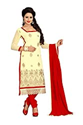 Vardhman MAHEK 60GRAM Cream Georgette unstitched Straight Salwar Suit Dress Material