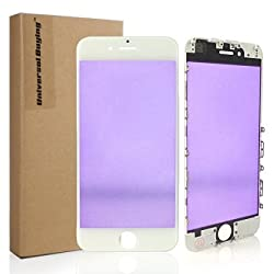 iPhone 6 Plus Screen Replacement, Universal Buying Original Cell Phone Outer Glass Lens + Pre-Install Bezel Frame Touch Screen Panel Repair Protective Cover with Tools(iPhone 6 Plus white)