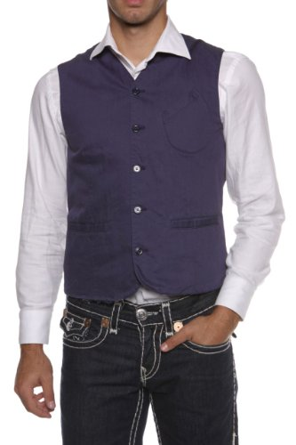 Coming soon by Yohji Yamamoto Gilet RON, Color: Blue, Size: 48