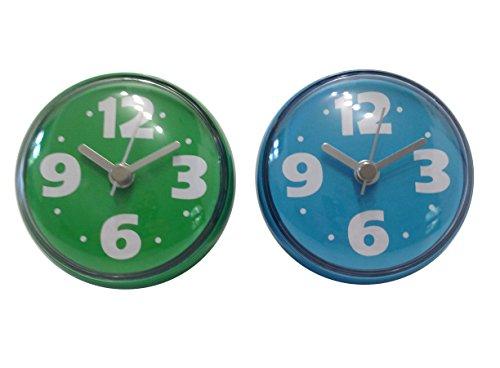 Bilik Shower Wall Clocks Set Of 2 Water Resistant Colorful Fun Childrens Bathroom