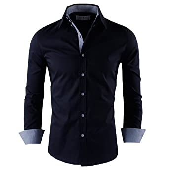 Men shirts casual button down shirts image unavailable for Tom s ware mens premium casual inner contrast dress shirt