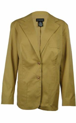 sutton-studio-womens-cotton-blend-jacket-2-button-blazer-16w-straw