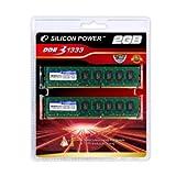 シリコンパワー メモリモジュール 240Pin DIMM DDR3-1333(PC3-10600)1GBx2 2枚組ブリスターパック SP002GBLTU133S22