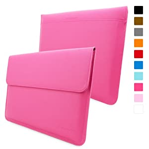 Snugg Macbook Pro 15 Case - Leather Sleeve with Lifetime Guarantee (Hot Pink) for Apple Macbook Pro 15