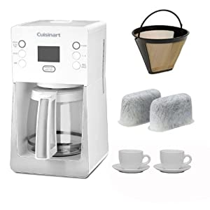 Cuisinart DCC-2800W Perfec Temp 14-Cup Programmable Coffeemaker, White + Accessory Kit by Cuisinart