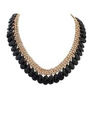 Crunchy Fashion Black Fall Short Necklace