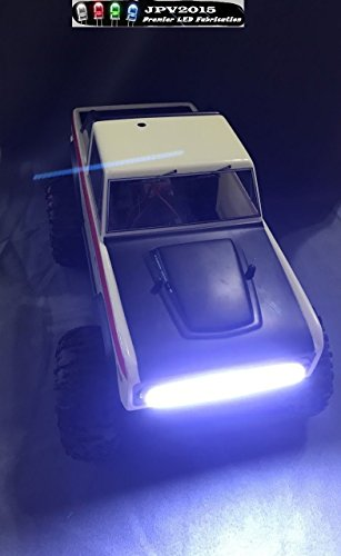 Genuine JPV2015 Product - Water-resistant Aluminum RC LED WHITE LIGHT BAR FOR TRUCKS, CARS, CRAWLERS, AND MORE! - Premium Quality - Handmade in USA exclusively by JPV2015 (Led Rc Car Light Kits compare prices)