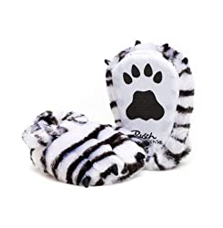 White Tiger Adult Slippers