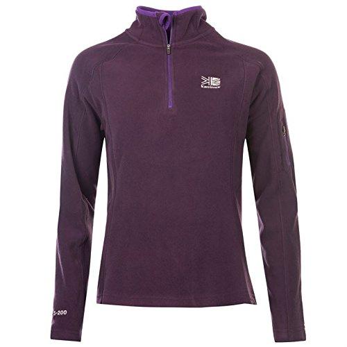 karrimor-womens-ladies-microfleece-pullover-sportswear-activewear-top-warm-purple-12-m