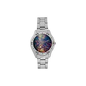 Universe Galaxy Space Nebula Men's or Boys' style Stainless Steel Traveller Analog Watches