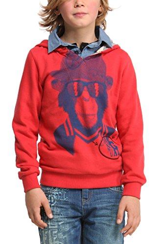 Desigual Jungen Sweatshirt, Uni Gr. 140, Rot - Rouge (3030)