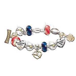 Go Patriots! #1 Fan Charm Bracelet by The Bradford Exchange