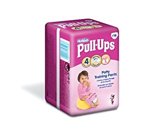 Huggies Pull Ups Potty Training Pants for Girls - Small (8-15 kg), 16 x 6 Packs (96 Pants)