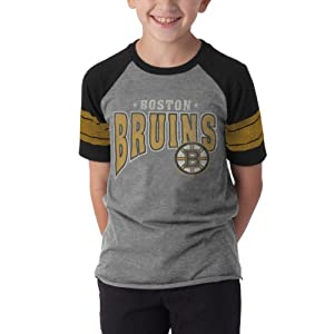 NHL Boston Bruins Playball Tee, Slate Grey by