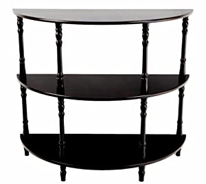 Frenchi Furniture Half Moon Console Table End Tables Living Room Furniture Carved Wood