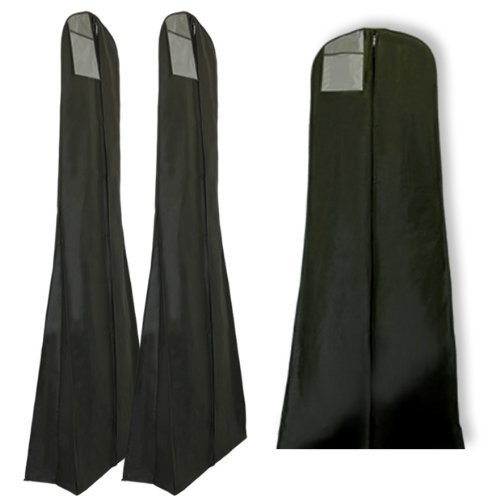 Juego-de-3-fundas-para-trajes-de-novia-transpirables-183cm-Negro-Con-bolsillo-interior-secreto
