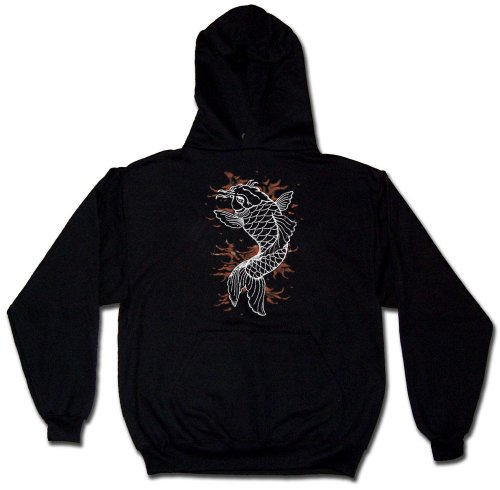 Koi Tattoo Sweatshirt, Men's Old School Tattoo Hoodie
