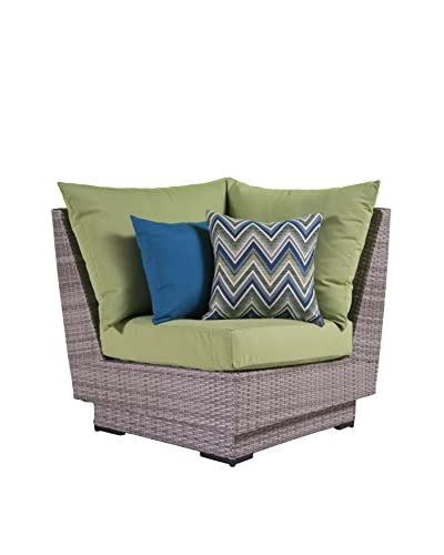 RST Brands Cannes Corner Chair, Green