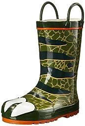 Western Chief Dinosaur Rain Boot (Toddler/Little Kid/Big Kid), Olive Green, 5 M US Toddler