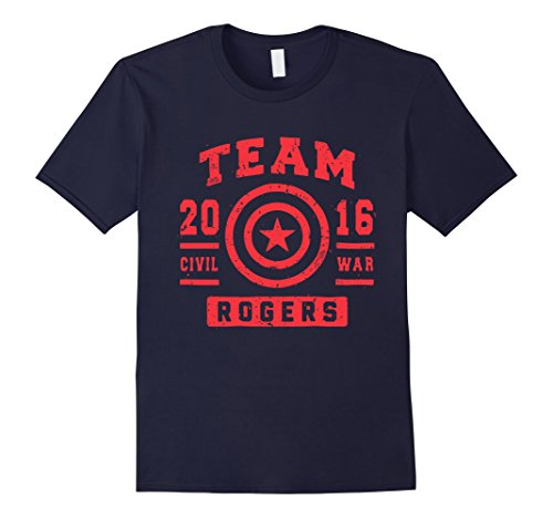TeeWander Team Rogers 100% Cotton - Male Large - Navy