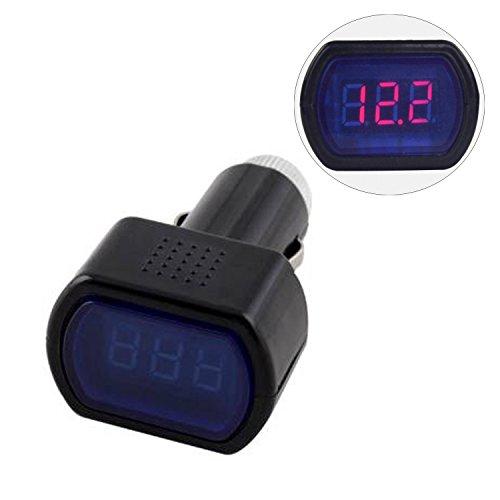 Wocharger(Tm) Lcd Cigarette Lighter Voltage Digital Panel Meter Volt Voltmeter Monitor For Auto Car Truck (Black)