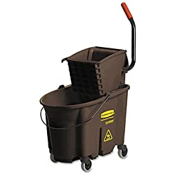 Rubbermaid Commercial 758088BN Wavebrake 35 Quart Bucket/Wringer Combinations, Brown
