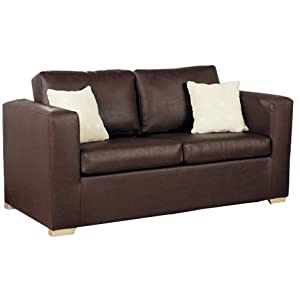 New 2 seater pu leather metal action sofa bed in various for Sofa bed amazon