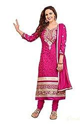 Blissta Rani cotton embroidered salwar suit dress material