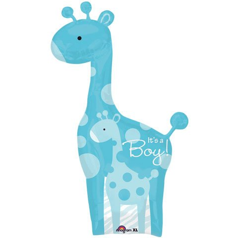 "Sweet Safari It's a Boy Giraffe Baby Shower 42"" Mylar Balloon"