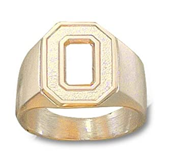 Ohio State Buckeyes O Mens Ring Size 11 - 14KT Gold Jewelry by Logo Art