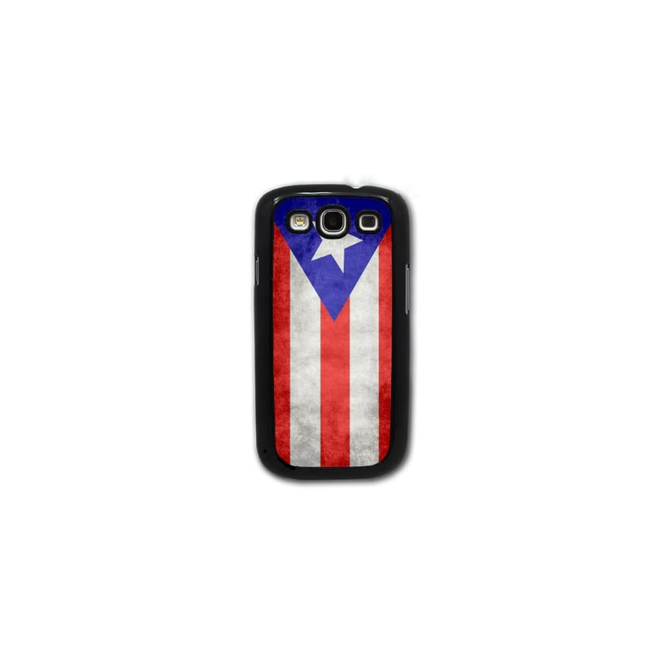 Puerto Rican Flag   Samsung Galaxy S3 Cover, Cell Phone Case   Black