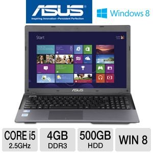 ASUS K55A 15.6 Marrow i5 500GB HDD Laptop