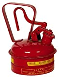 Eagle UI-2-S Red Galvanized Steel Type I Gas Safety Can, 1 quart Capacity, 8