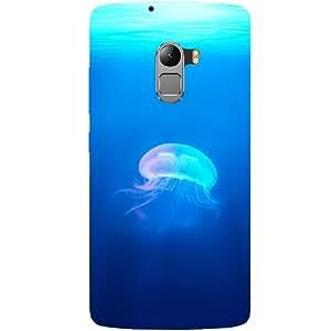 Casotec Jelly Fish Design Hard Back Case Cover for Lenovo K4 Note