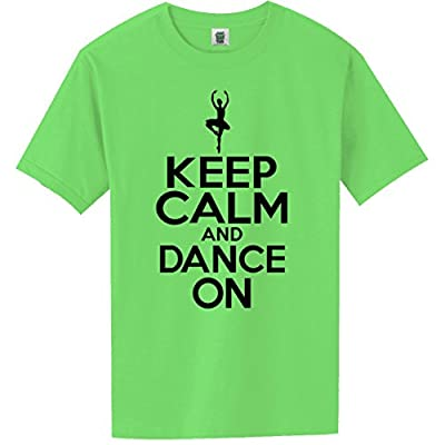"YOUTH ""Keep Calm and Dance On"" Short Sleeve Bright Neon Tee - 6 bright colors"