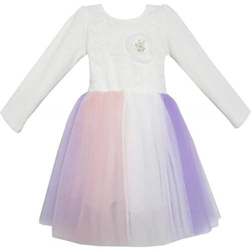 FE13 こどもドレス 女の子ドレス キッズドレス チュチュドレス ダンス チュール カラフル 110cm